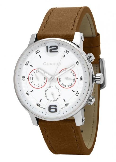 Чоловічі наручні годинники Guardo P12432 SWBr