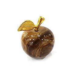Яблоко из натурального (коричневого) оникса 3.5 см