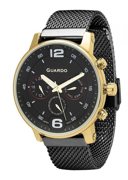 Чоловічі наручні годинники Guardo P12432(m) GBB