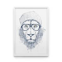 Постер на стену Cool lion
