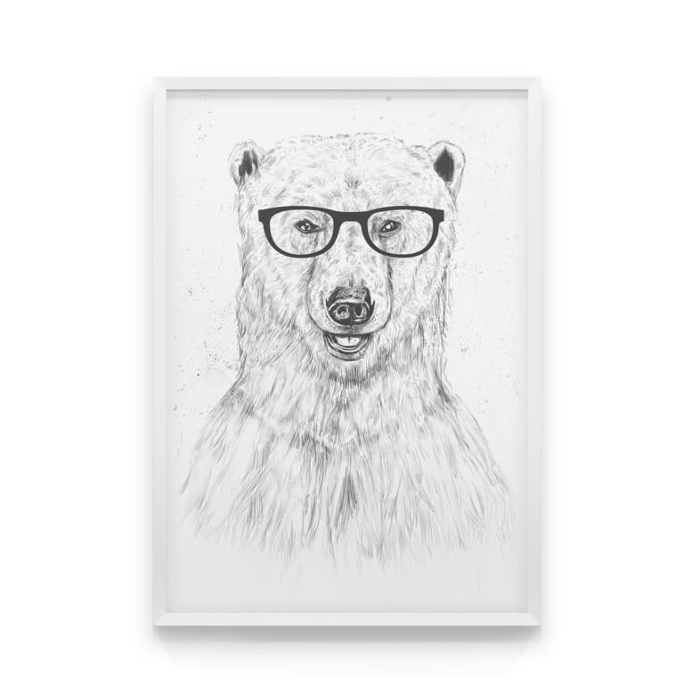 Постер на стену GEEK BEAR с мишкой-задротом