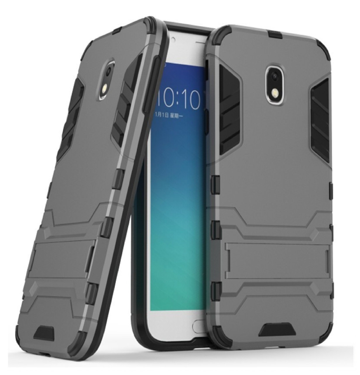 Бронированный противоударный чехол Stand для Samsung Galaxy J5 (2017) SM-J530F Grey