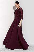 Длинное вечернее платье-болеро,цвет марсала, изумрудный S M L