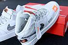Женские высокие кроссовки Nike Air Force 1 Mid Just Do It White Найк Аир Форс белые, фото 7