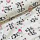 Ткань поплин панды с воздушными шариками на белом (ТУРЦИЯ шир. 2,4 м) №32-125, фото 4