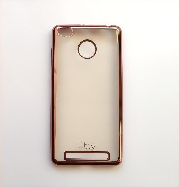 Силиконовый чехол Utty Electroplating TPU на Xiaomi Redmi 3s / Redmi 3 Pro Pink