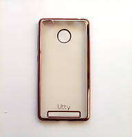 Силиконовый чехол Utty Electroplating TPU на Xiaomi Redmi 3s / Redmi 3 Pro Pink, фото 1