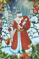 Пакет Новогодний полипропиленовый (металл+ рисунок) 25 / 40 см, фото 1