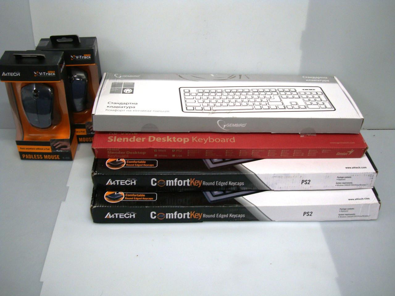 Клавиатуры и мыши одним комплектом: Gembird KB-103, Real-El Standard 500, A4TECH KR-85