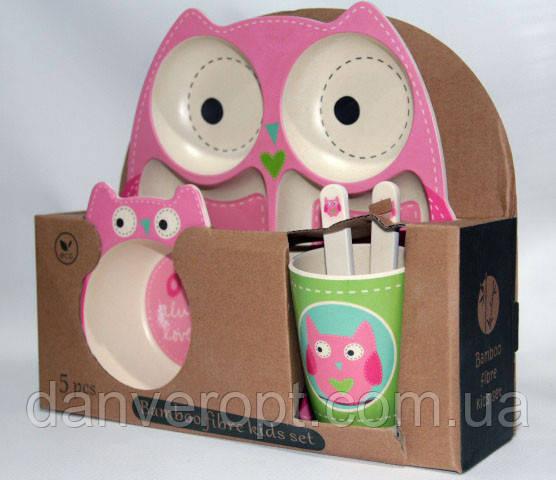 Посуда детская SOVA подарочный набор эко бамбук купить оптом со склада 7км Одесса