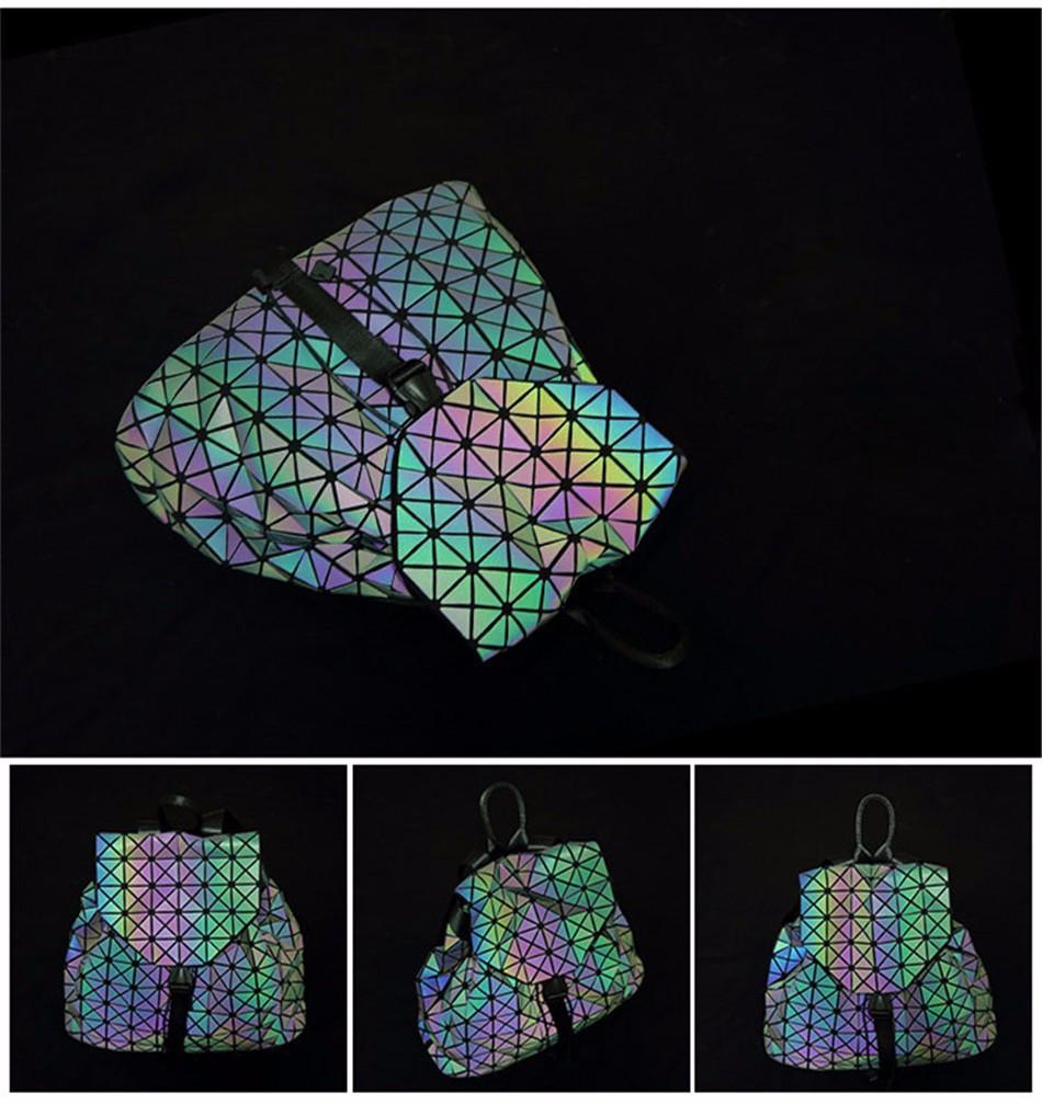 Рюкзак женский голографический Бао Bao цвета микс