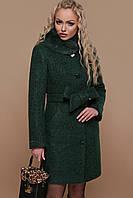 Женское короткое зимнее шерстяное пальто на пуговицах с мехом на воротнике П-332  зм a5cd4b94efb49