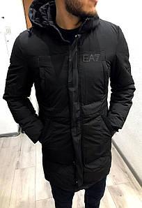 Мужская куртка зимняя Emporio Armani, до -20,Турция, с,м,л,хл,ххл.хххл, тинсулейт, доп. подкладка с мехом