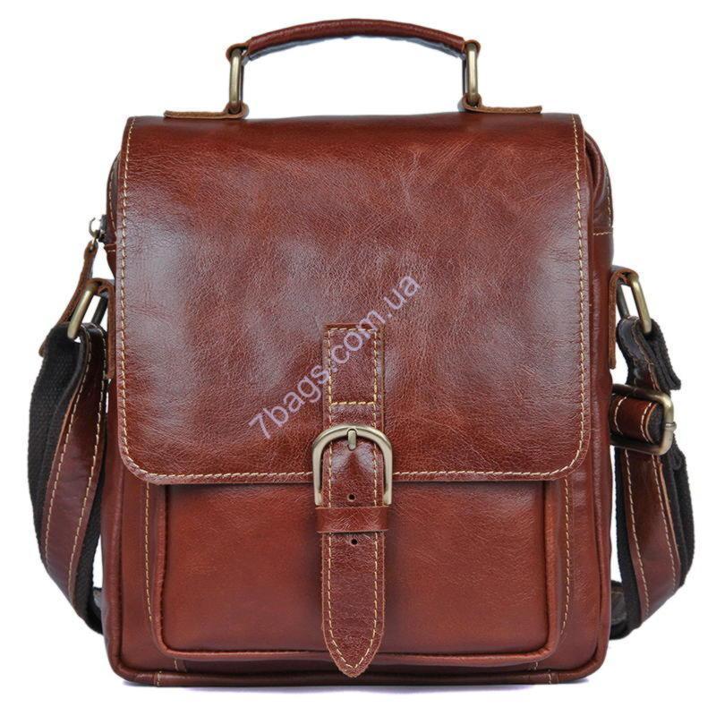 d5bfa99857cc Кожаная сумка кросс-боди John McDee, для мужчин 1016Х - Тибериус — магазин  стильных