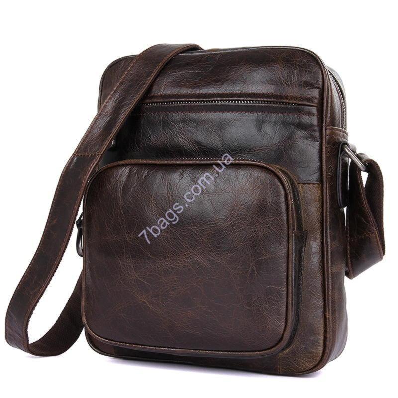 fb7410b1582d Мужская сумка через плечо John McDee 1008Q, натуральная кожа - Тибериус —  магазин стильных аксессуаров