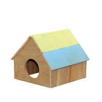 Домик Патриот маленький для грызунов 12х12х12,5 см., Фауна™