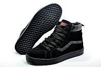 Зимние кроссовки унисекс в стиле Vans Old Skool Winter, Чёрные