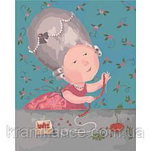 Картина по номерам Гапчинська - Моє улюблене намисточко 40х50 см (в  упаковці)