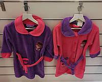 Халат махровый банный для девочек оптом,Disney размеры 3-8 лет арт. 840-036
