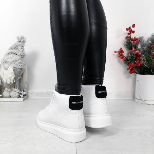 Кросівки зимові Polscy білі на хутрі, фото 2