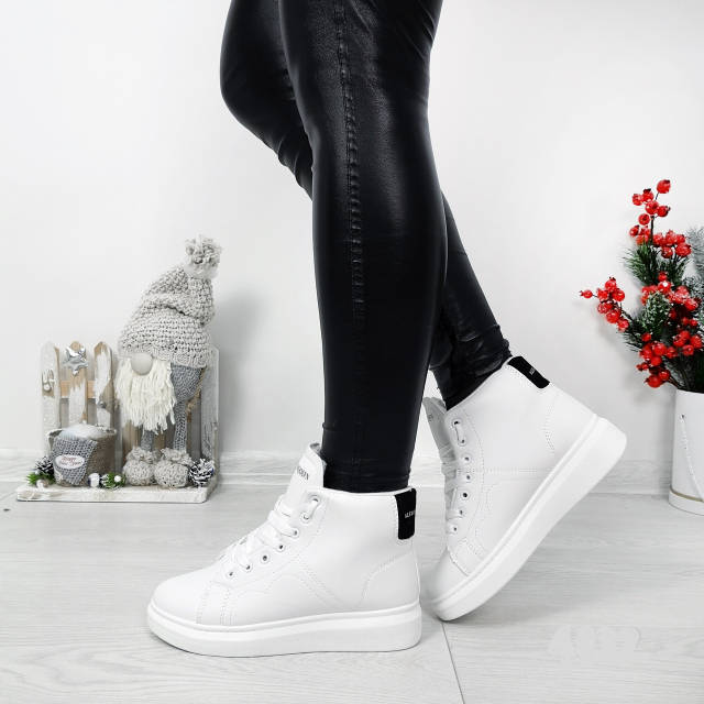 Кросівки зимові Polscy білі на хутрі, фото 1