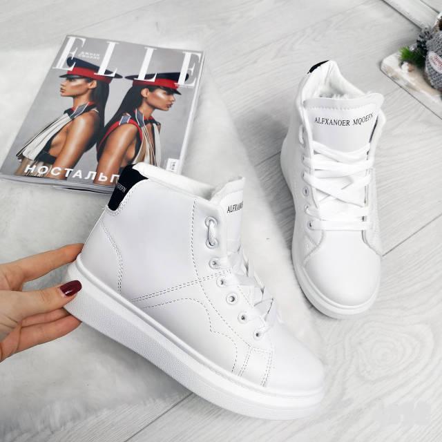 Кросівки зимові Polscy білі на хутрі, фото 4