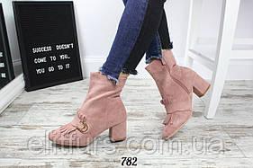 Ботинки демисезонные в стиле Gucci, эко-замша + (2 цвета)
