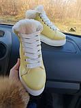 Зимние женские кеды Sweety Yellow Leather, фото 2
