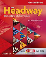 Учебник New Headway Fourth Edition Elementary Student's Book with iTutor DVD-ROM