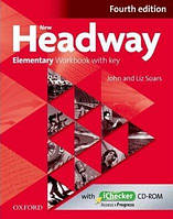 Рабочая тетрадь New Headway Fourth Edition Elementary Workbook with key and iChecker CD-ROM