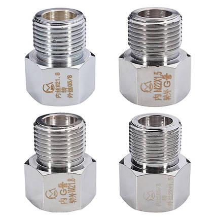 ХромированныйбаллонсуглероднымцилиндромАдаптер регулятора Коннектор Аквариум W21.8 До G5/8 M22x1.5 до 22x1.5 - 1TopShop, фото 2