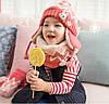 Детский набор шапка+снуд+варежки Персик, фото 3