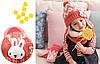 Детский набор шапка+снуд+варежки Персик, фото 4