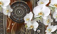 Фотообои 3D цветы 368x254 см Орхидеи и магический круг CN3091