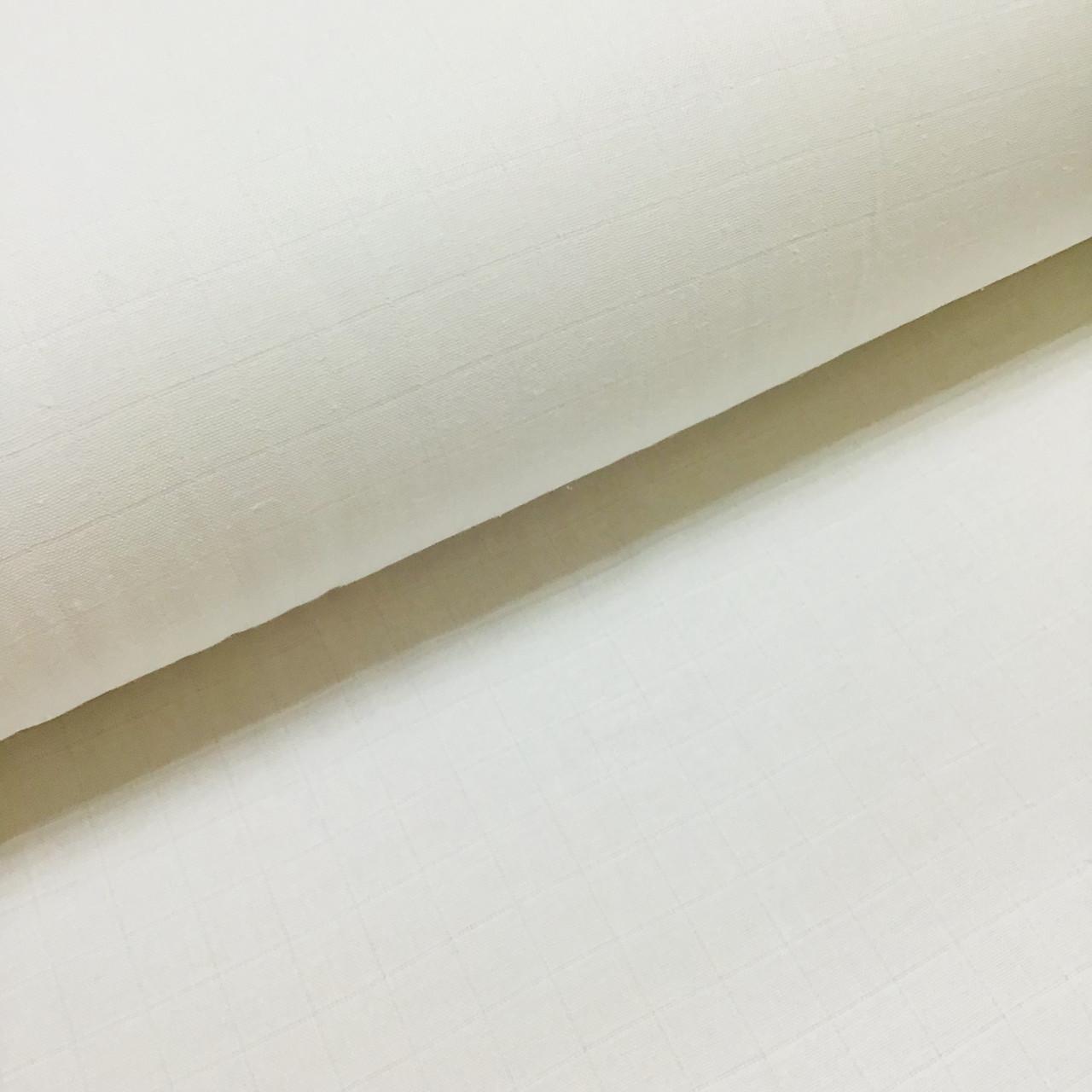 Ткань муслин Двухслойная однотонная белая (шир. 1,8 м)