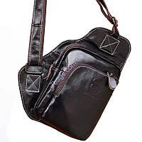 Мини-рюкзачек Bull из телячьей кожи, для мужчин (Dark brown — темно-коричневый)