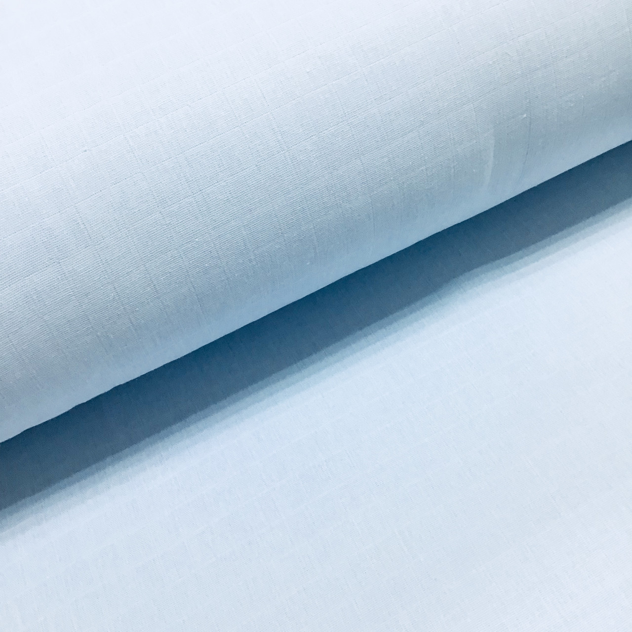 Ткань муслин Двухслойная однотонная светло -голубая (шир. 1,55 м)