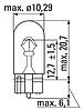 Лампа светодиодная Philips T10 (W5W) 4000K 12V, 2шт/блистер, фото 2
