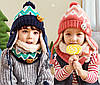 Детский набор шапка+снуд+варежки Сине-зелёный, фото 5