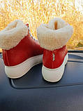 Зимние женские кеды Sweety Red Leather , фото 2