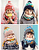 Детский набор шапка+снуд+варежки Желтый, фото 4