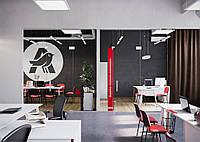 Текстильное оформление офисного помещения АШАН 16