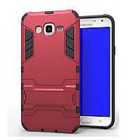 Бронированный противоударный чехол Stand для Samsung Galaxy J5 SM-J500H Dante Red