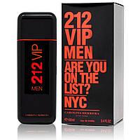 Туалетная вода для мужчин Carolina Herrera 212 Vip Men Red (Каролина Херерра 212 Вип Мен Ред) реплика