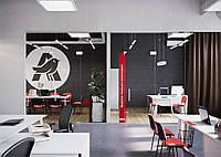 Текстильное оформление офисного помещения АШАН 17