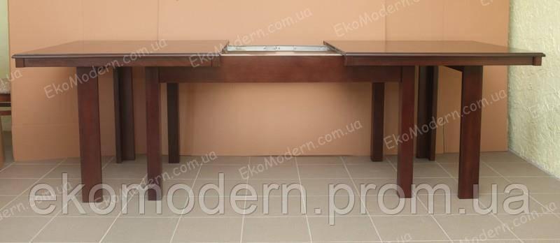 Раздвижной деревянный стол - трансформер ДАЛЛАС + (160см - 320см)