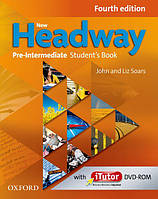 Учебник New Headway Fourth Edition Pre-Intermediate Student's Book with iTutor DVD-ROM