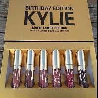Набор из 6 матовых помад Kylie Birthday Edition (реплика)