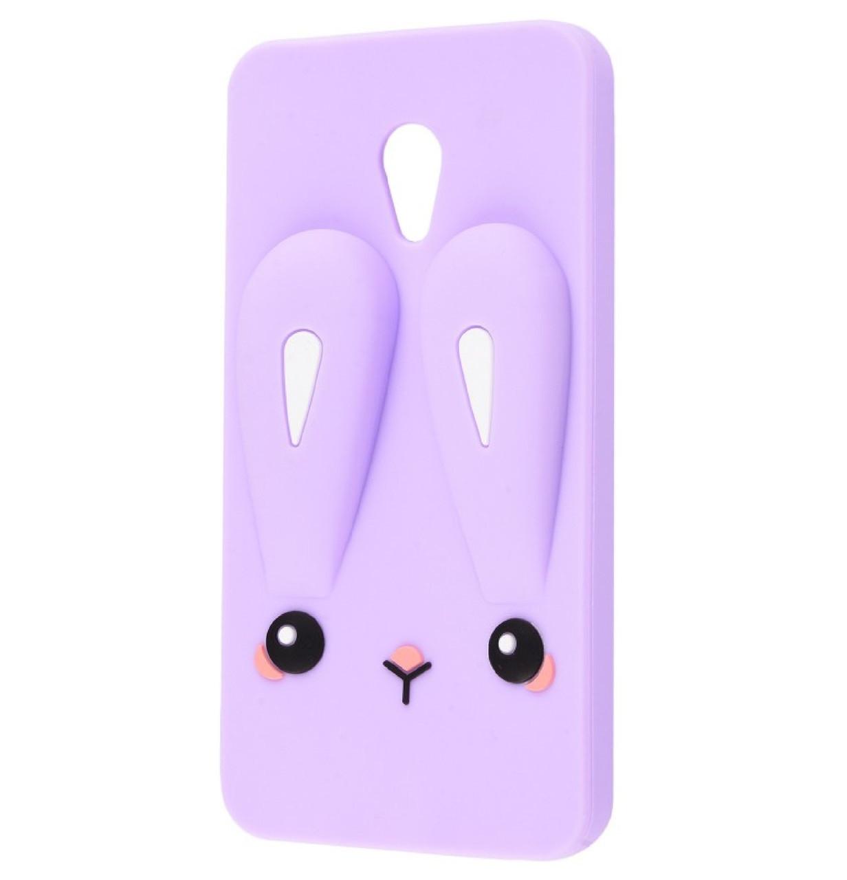 Чехол-накладка TPU Rabbit для Meizu M5c Purple