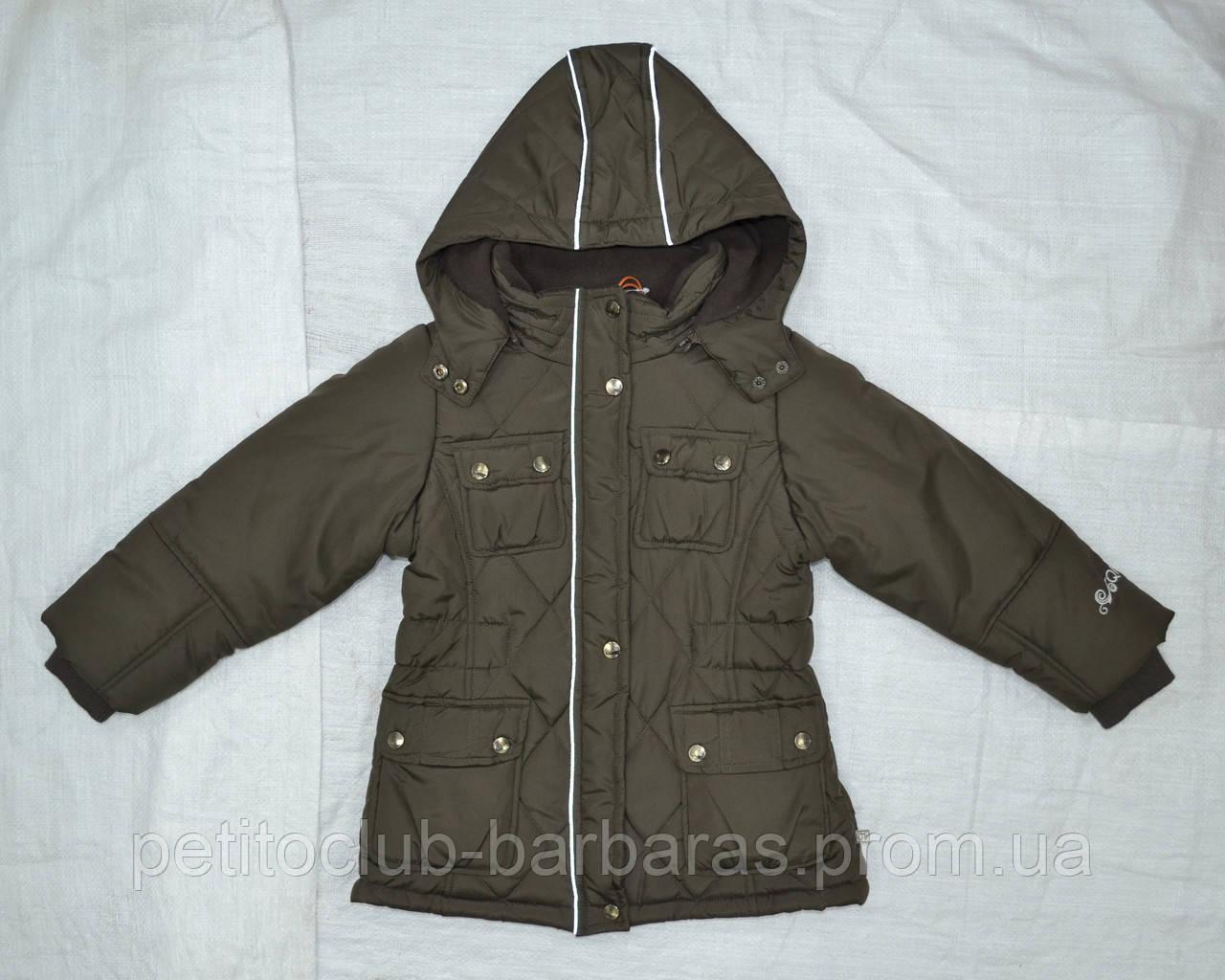 Куртка зимняя для девочки коричневая (QuadriFoglio, Польша)